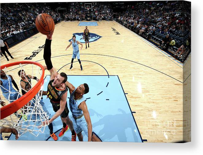 Nba Pro Basketball Canvas Print featuring the photograph Miles Plumlee by Joe Murphy