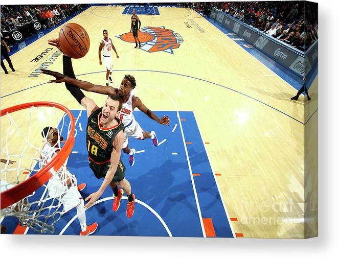 Nba Pro Basketball Canvas Print featuring the photograph Miles Plumlee by Nathaniel S. Butler