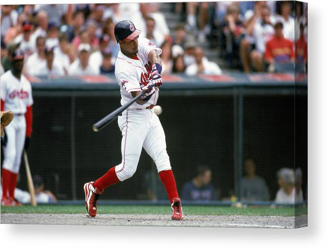 American League Baseball Canvas Print featuring the photograph MLB Photos Archive by John Reid III