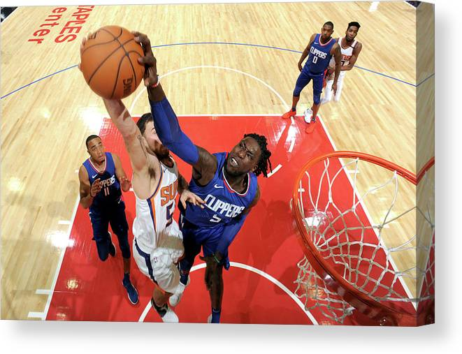 Nba Pro Basketball Canvas Print featuring the photograph Montrezl Harrell by Andrew D. Bernstein