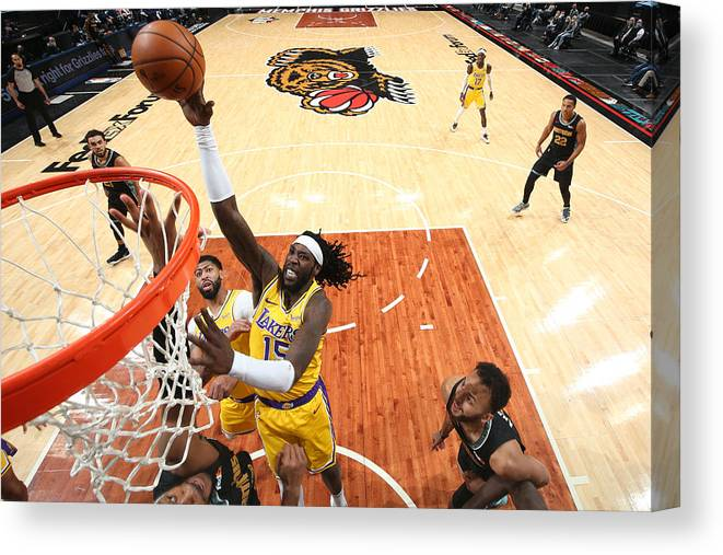 Nba Pro Basketball Canvas Print featuring the photograph Montrezl Harrell by Joe Murphy