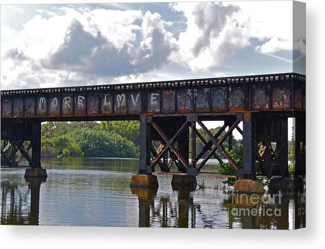 Trains Canvas Print featuring the photograph More Love by Eddy Mann