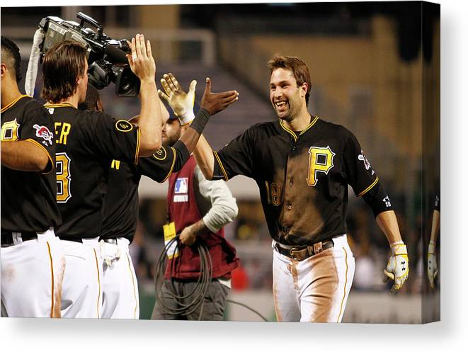 Ninth Inning Canvas Print featuring the photograph Neil Walker by Justin K. Aller