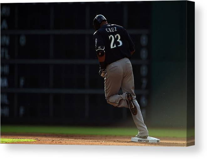 Following Canvas Print featuring the photograph Nelson Cruz by Stacy Revere