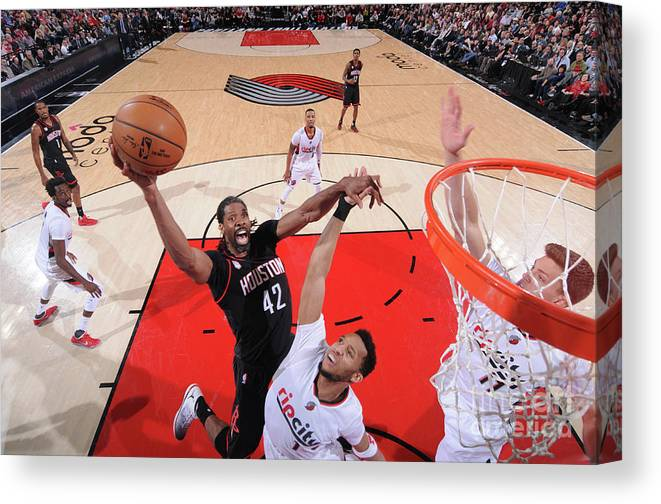 Nba Pro Basketball Canvas Print featuring the photograph Nene Hilario by Sam Forencich