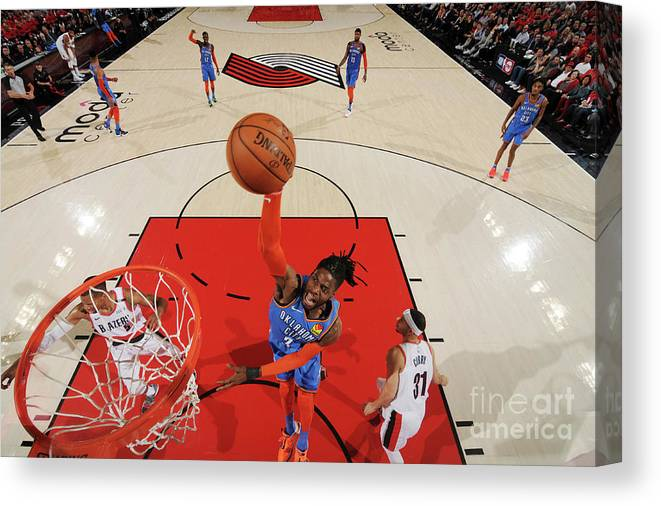 Playoffs Canvas Print featuring the photograph Nerlens Noel by Cameron Browne