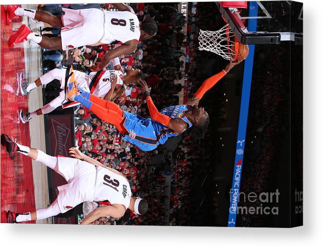 Playoffs Canvas Print featuring the photograph Nerlens Noel by Sam Forencich