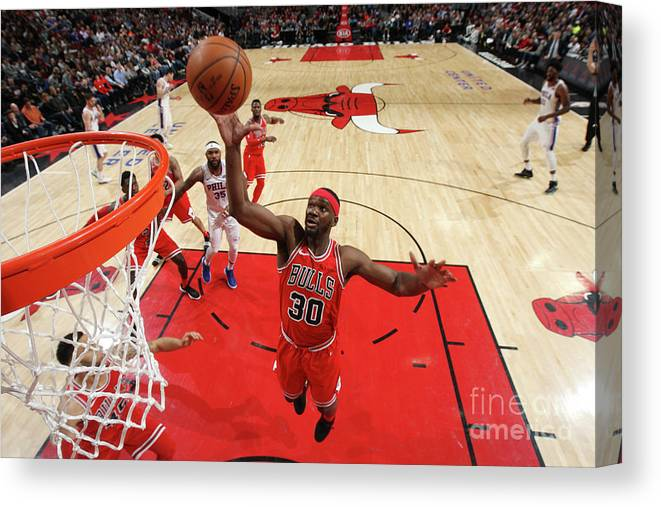 Nba Pro Basketball Canvas Print featuring the photograph Noah Vonleh by Gary Dineen