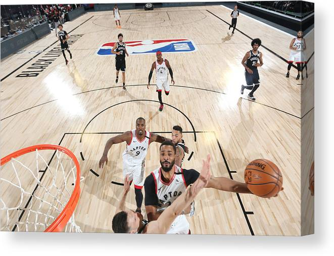 Playoffs Canvas Print featuring the photograph Norman Powell by David Sherman