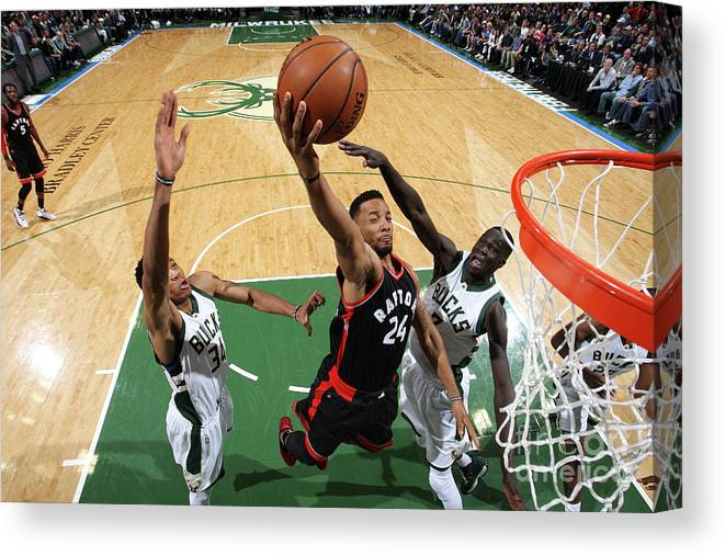 Playoffs Canvas Print featuring the photograph Norman Powell by Gary Dineen