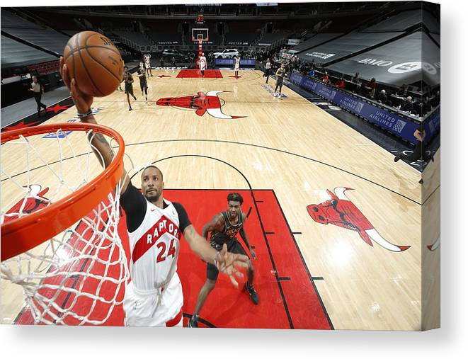 Nba Pro Basketball Canvas Print featuring the photograph Norman Powell by Jeff Haynes