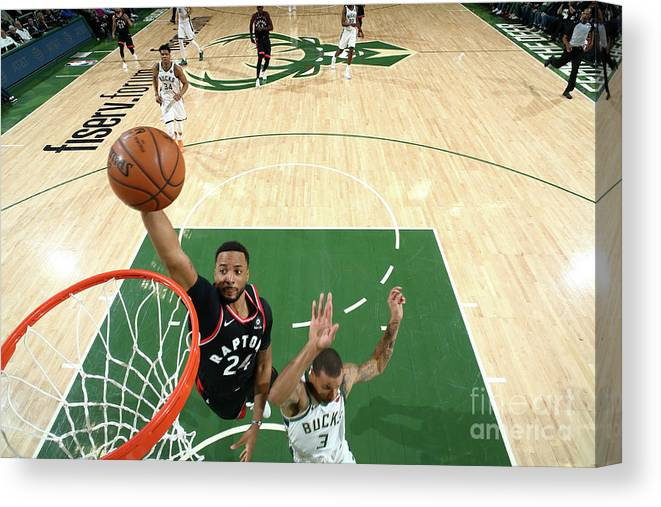 Game Two Canvas Print featuring the photograph Norman Powell by Nathaniel S. Butler