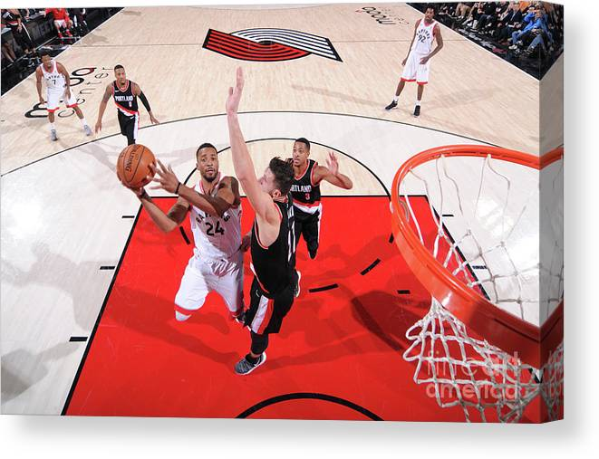 Nba Pro Basketball Canvas Print featuring the photograph Norman Powell by Sam Forencich