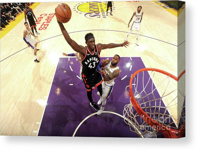 Nba Pro Basketball Canvas Print featuring the photograph Pascal Siakam by Andrew D. Bernstein