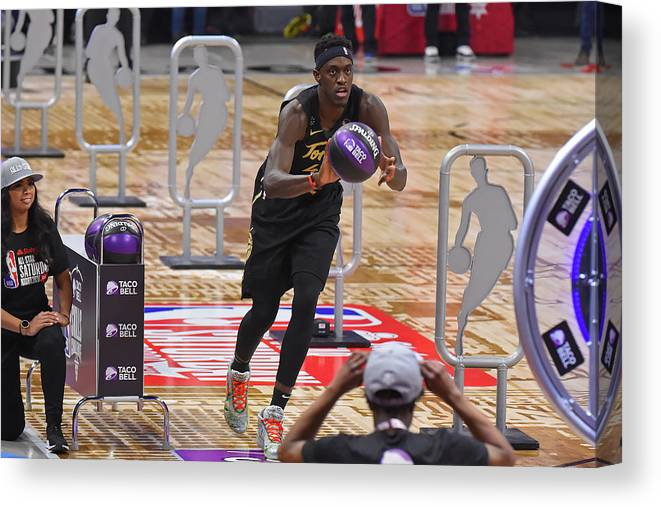 Nba Pro Basketball Canvas Print featuring the photograph Pascal Siakam by Bill Baptist