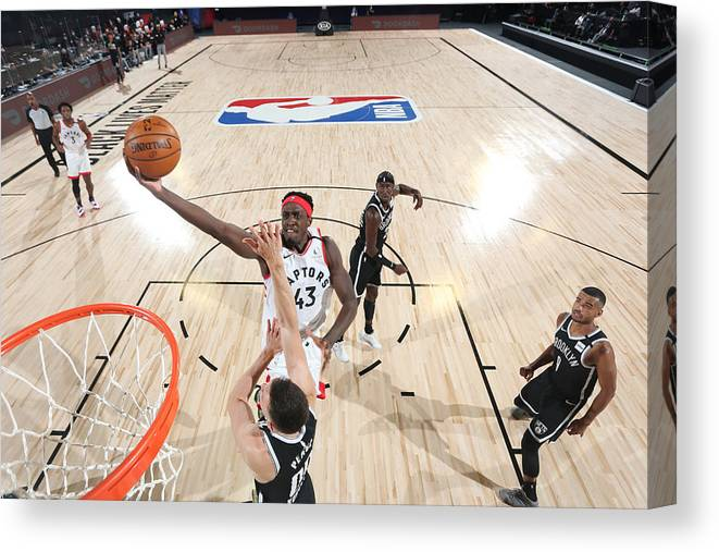 Playoffs Canvas Print featuring the photograph Pascal Siakam by David Sherman