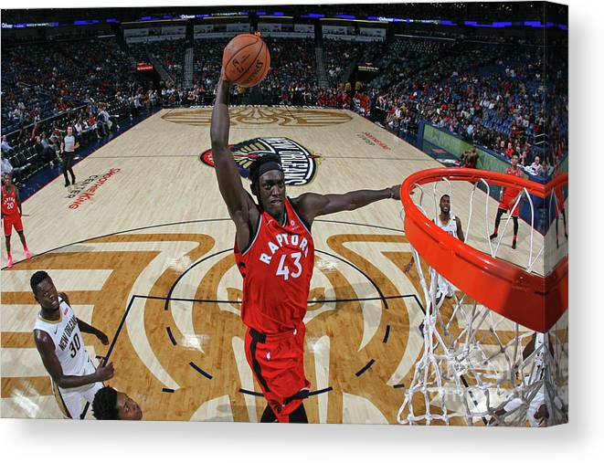 Smoothie King Center Canvas Print featuring the photograph Pascal Siakam by Layne Murdoch Jr.
