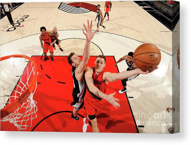 Nba Pro Basketball Canvas Print featuring the photograph Pat Connaughton by Cameron Browne