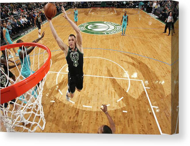 Nba Pro Basketball Canvas Print featuring the photograph Pat Connaughton by Gary Dineen