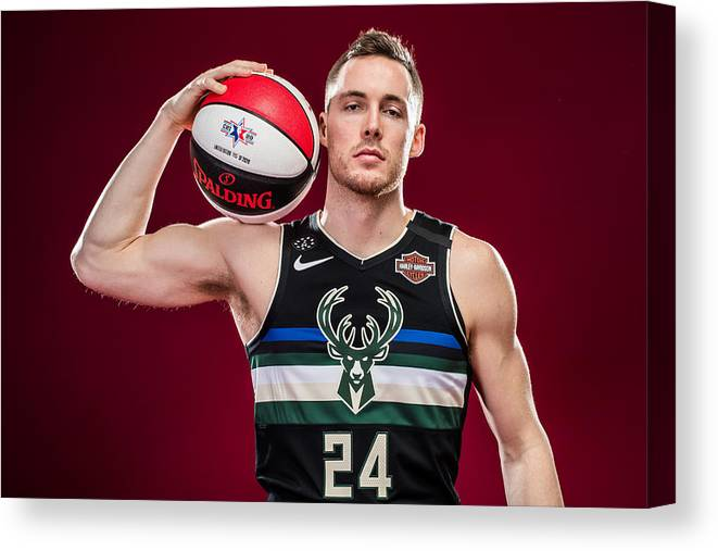 Nba Pro Basketball Canvas Print featuring the photograph Pat Connaughton by Michael J. LeBrecht II