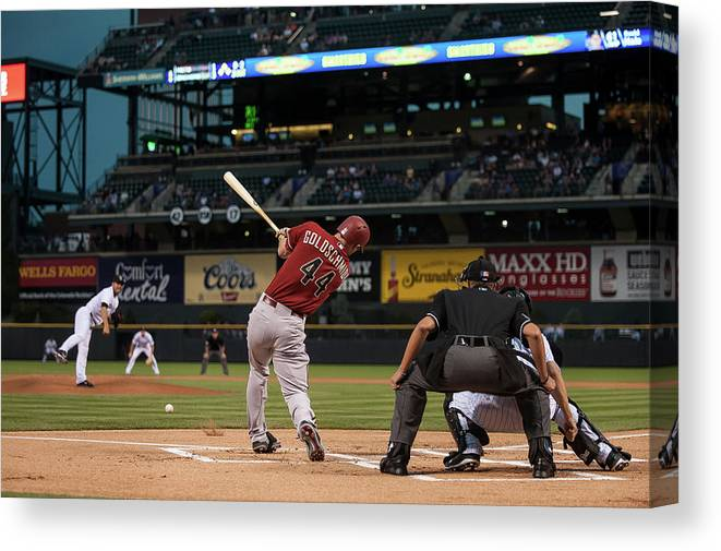 People Canvas Print featuring the photograph Paul Goldschmidt by Dustin Bradford