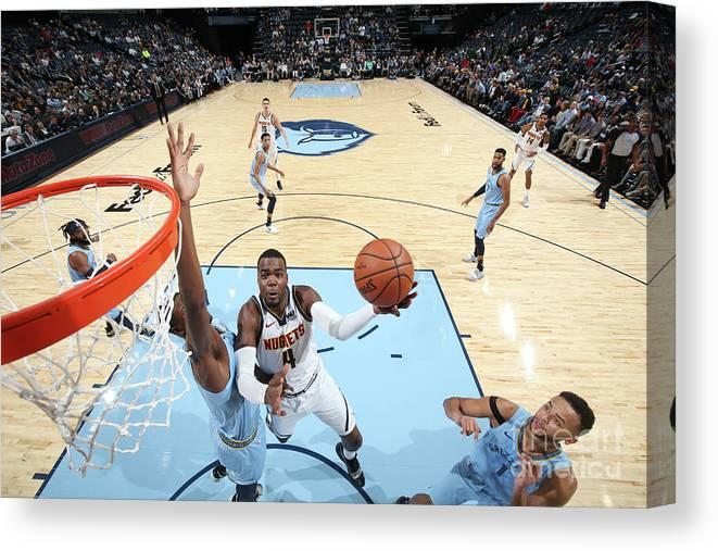 Nba Pro Basketball Canvas Print featuring the photograph Paul Millsap by Joe Murphy