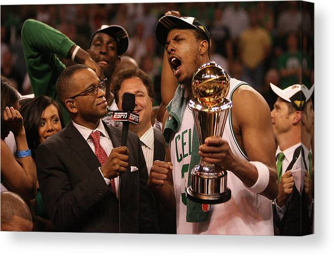 Playoffs Canvas Print featuring the photograph Paul Pierce by Elsa