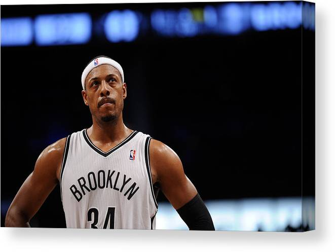 Nba Pro Basketball Canvas Print featuring the photograph Paul Pierce by Maddie Meyer
