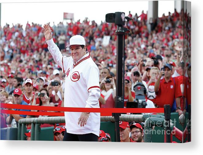 Great American Ball Park Canvas Print featuring the photograph Pete Rose by Kirk Irwin