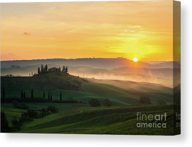 Sunrise Canvas Print featuring the photograph Popping out by Yuri Santin
