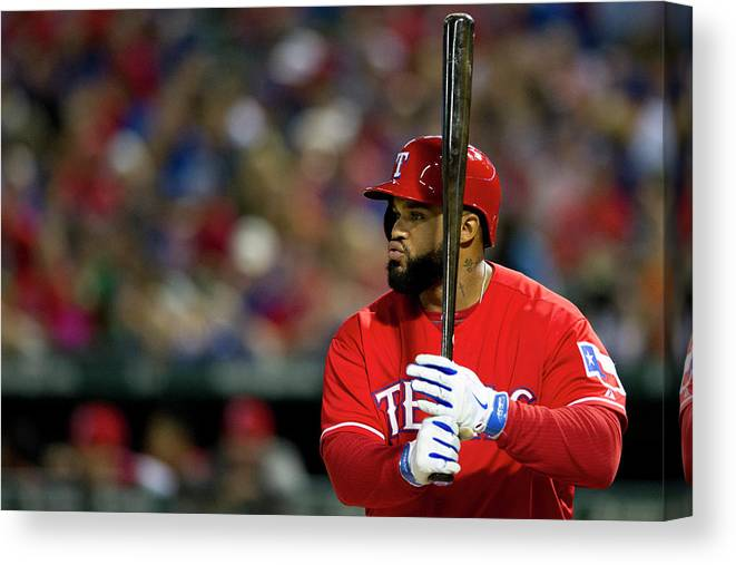 American League Baseball Canvas Print featuring the photograph Prince Fielder by Cooper Neill