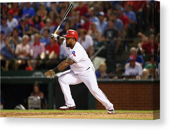 People Canvas Print featuring the photograph Prince Fielder by Ronald Martinez