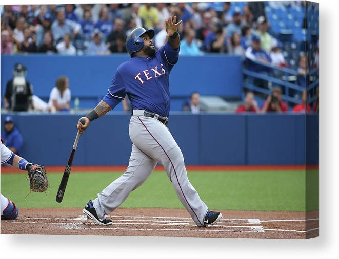 People Canvas Print featuring the photograph Prince Fielder by Tom Szczerbowski