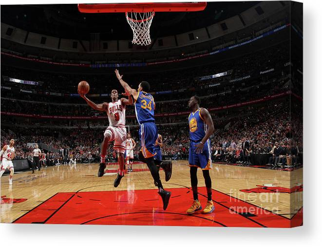Nba Pro Basketball Canvas Print featuring the photograph Rajon Rondo by Gary Dineen