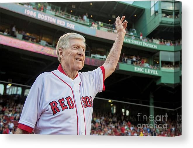 People Canvas Print featuring the photograph Red Morgan by Billie Weiss/boston Red Sox