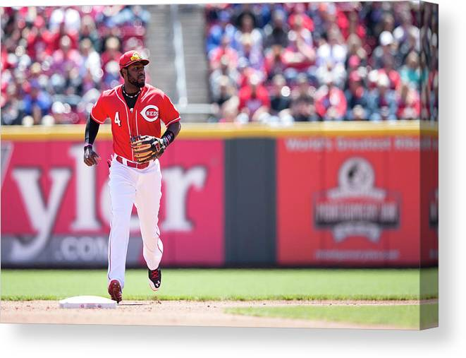 Great American Ball Park Canvas Print featuring the photograph Red Phillips by Taylor Baucom