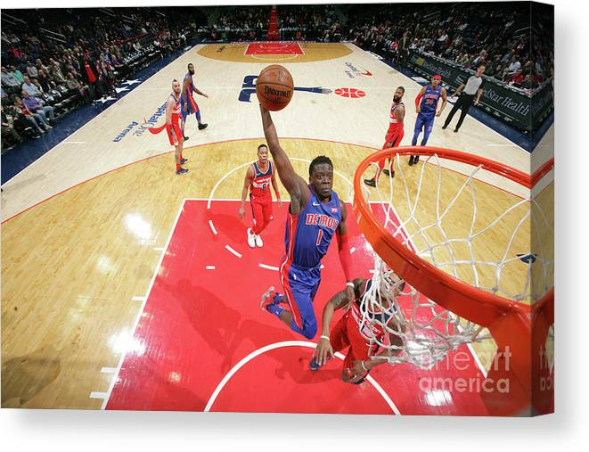 Nba Pro Basketball Canvas Print featuring the photograph Reggie Jackson by Ned Dishman