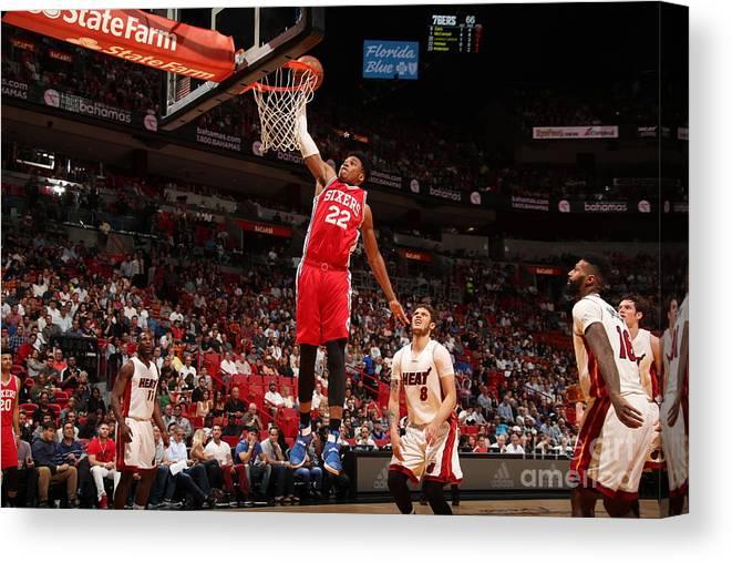Nba Pro Basketball Canvas Print featuring the photograph Richaun Holmes by Issac Baldizon