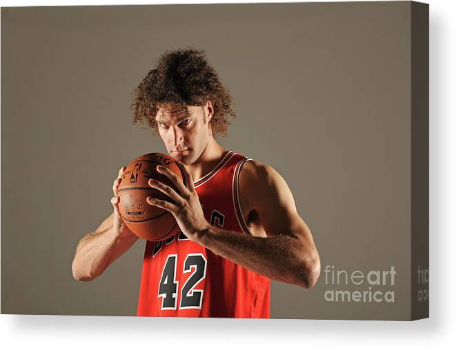 Media Day Canvas Print featuring the photograph Robin Lopez by Randy Belice