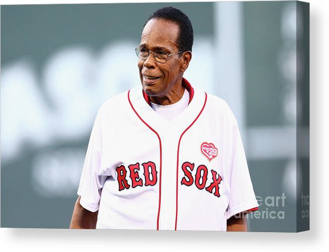 People Canvas Print featuring the photograph Rod Carew by Maddie Meyer
