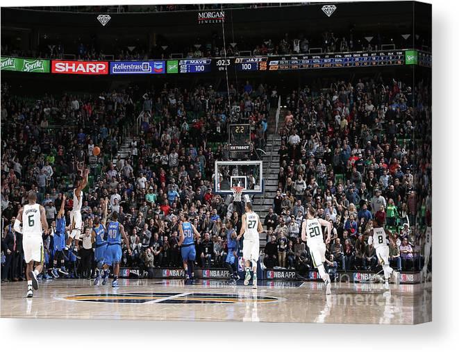 Nba Pro Basketball Canvas Print featuring the photograph Rodney Hood by Melissa Majchrzak