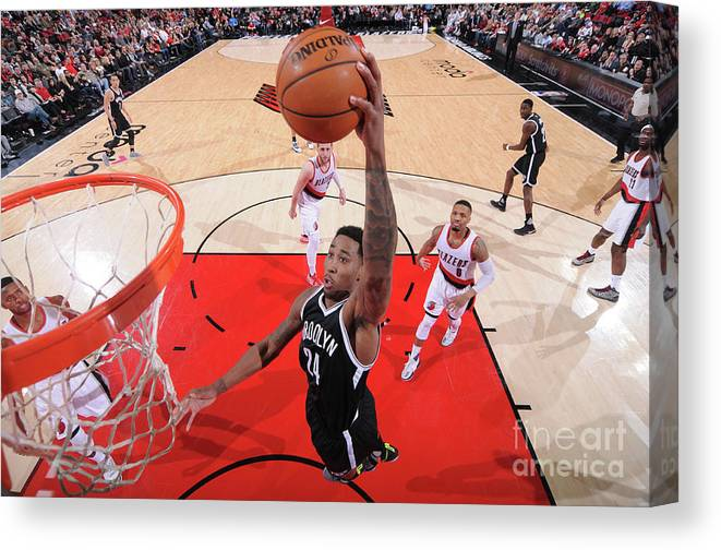 Nba Pro Basketball Canvas Print featuring the photograph Rondae Hollis-jefferson by Sam Forencich