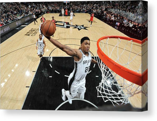 Nba Pro Basketball Canvas Print featuring the photograph Rudy Gay by Mark Sobhani