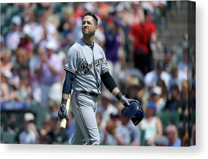 Three Quarter Length Canvas Print featuring the photograph Ryan Braun by Justin Edmonds