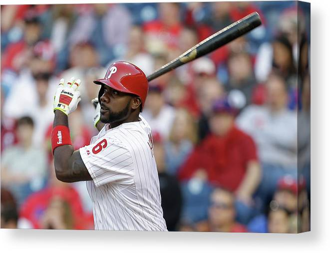 Citizens Bank Park Canvas Print featuring the photograph Ryan Howard by Chris Gardner