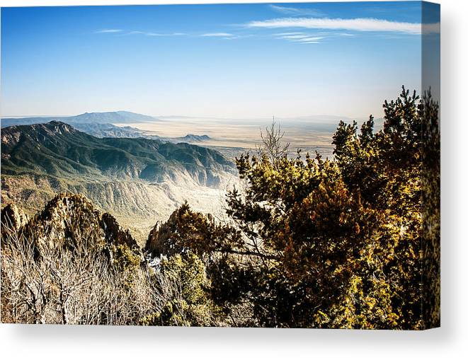 On Top Of The World Canvas Print featuring the photograph Sandia Mountains - View from the Sandia Crest by Ivanastar