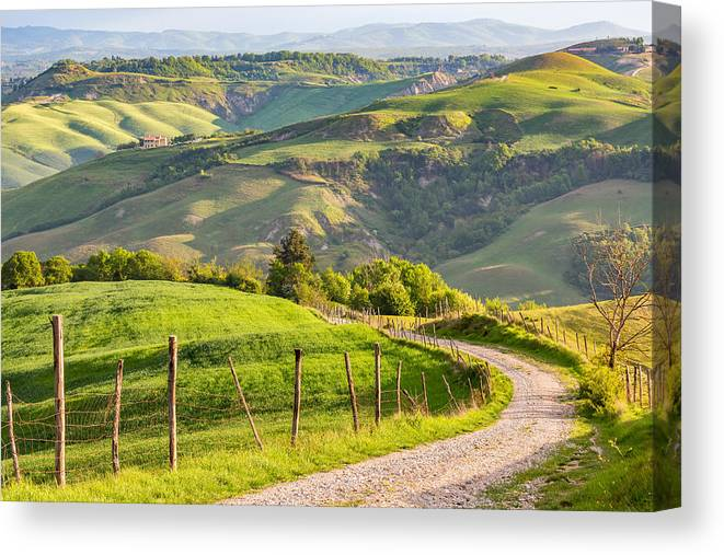 Scenics Canvas Print featuring the photograph Scenic View Of Country Road Against Sky by Lars Johansson / EyeEm