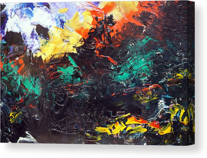 Vision Canvas Print featuring the painting Schizophrenia by Sergey Bezhinets