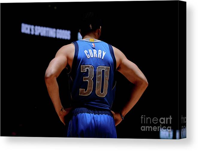 Nba Pro Basketball Canvas Print featuring the photograph Seth Curry by Bart Young