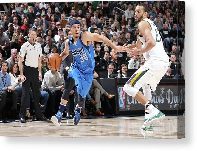 Nba Pro Basketball Canvas Print featuring the photograph Seth Curry by Melissa Majchrzak